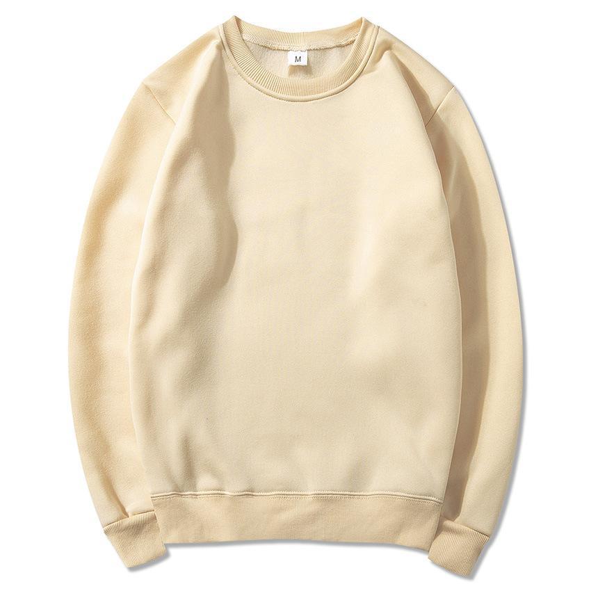 Männer Warm Sweater Runder Kragen Sport Solid Color Fleece Pullover