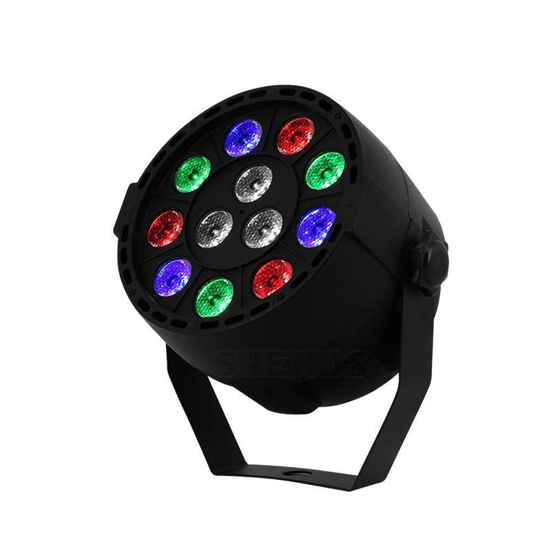 LED Par 12x1W RGBW LED de scène Par Lumière avec DMX512 Disco DJ Projecteur Party machine Décoration d'effet d'étape d'éclairage