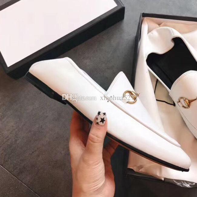 2019 고품질의 패션 최신 뜨거운 판매 고전 숙녀 가죽 신발 디자이너 패션 숙녀 숙녀 가죽 샌들 크기 34-40은 원래