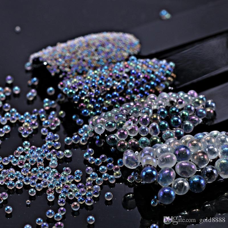 5g sirena decoración de uñas perlas de caviar de uñas transparente mate arte de la manicura de la decoración 3D bolas UV Gel polaco de bricolaje accesorios de 4 colores Nuevo