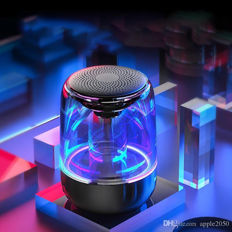 بلوتوث اللاسلكية المحمولة ميني رئيس ملون ضوء الموسيقى المحمولة صندوق الصوت يدوي في الهواء الطلق باس مضخم صوت مكبر الصوت