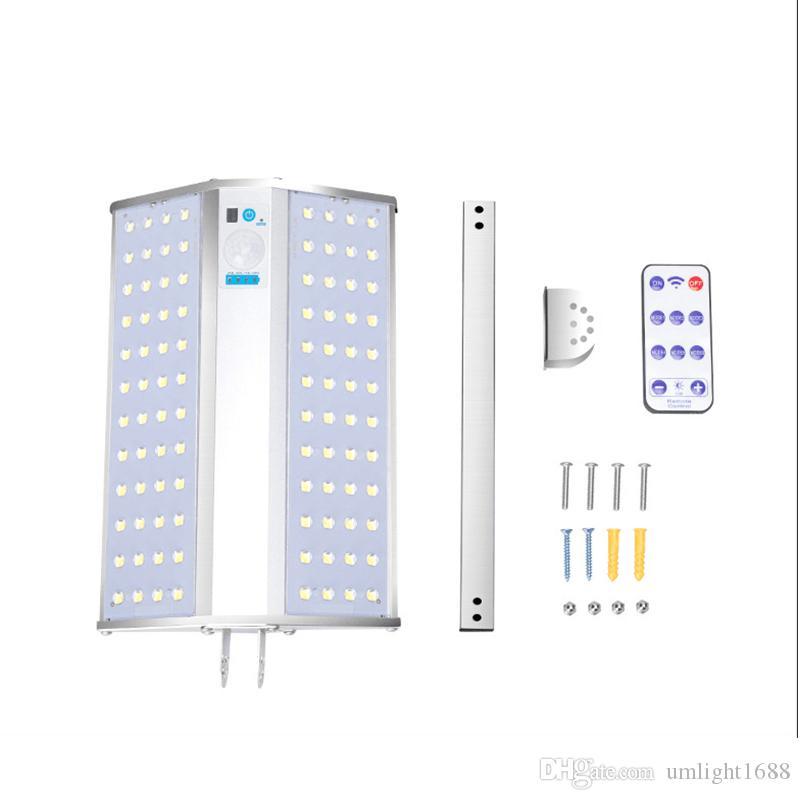 Umlight1688 Solar-Panel LED Landschaft Beleuchtung 96 doppelseitige Solar-LED-Straßenleuchte 5 Jahre Garantie führte