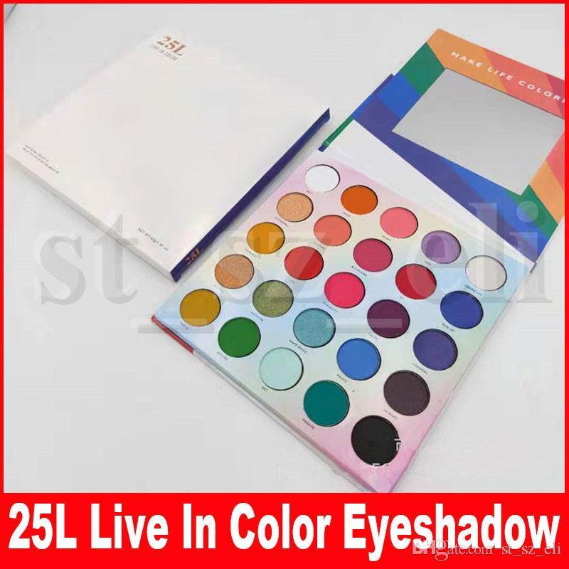 Eye Makeup 25L Live In Color Matte eyeshadow palette Make Life Colorful 25 Color Eye Shadow Palette Matte Shimmer Eye shadows