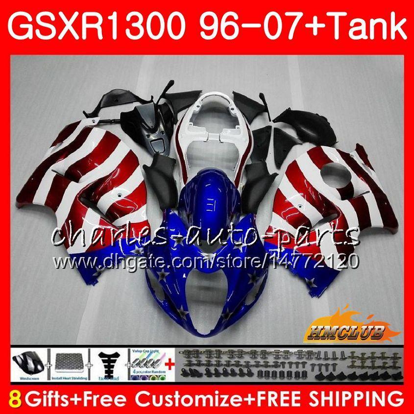 Kit Für SUZUKI Hayabusa USA FLAG Vorrat GSX-R1300 1996 1997 1998 2007 24HC.4 GSXR 1300 GSXR1300 96 97 98 99 00 01 02 03 04 05 06 07 Verkleidungen