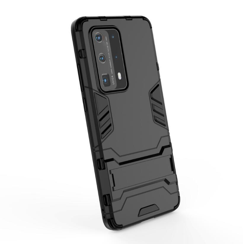 Para Huawei P40 Pro Plus Caso nostaglic clássico stand robusto Combo híbrido Qualidade Armadura Bracket Impacto Holster Capa Para Huawei P40 Pro Plus