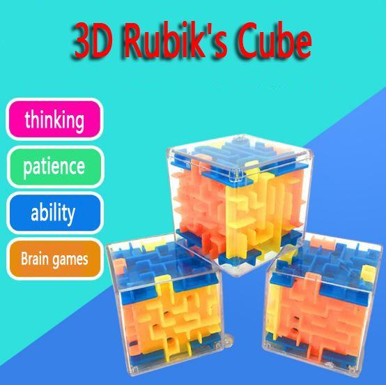 3D 매직 큐브 미로 4-6 세 어린이 혁신 지적 미로 퍼즐 장난감