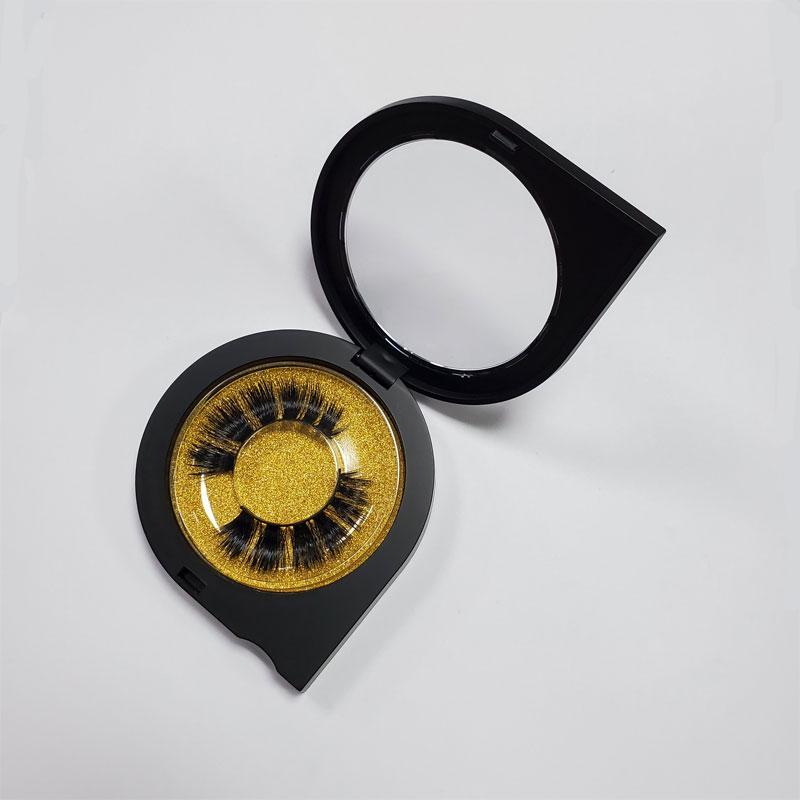 3D норка Ложные Ресницы Продолжительный Lashes Natural Mink Ресницы 3D Eye Lashes Расширение красоты Инструменты Drop-Shaped Box Упаковка
