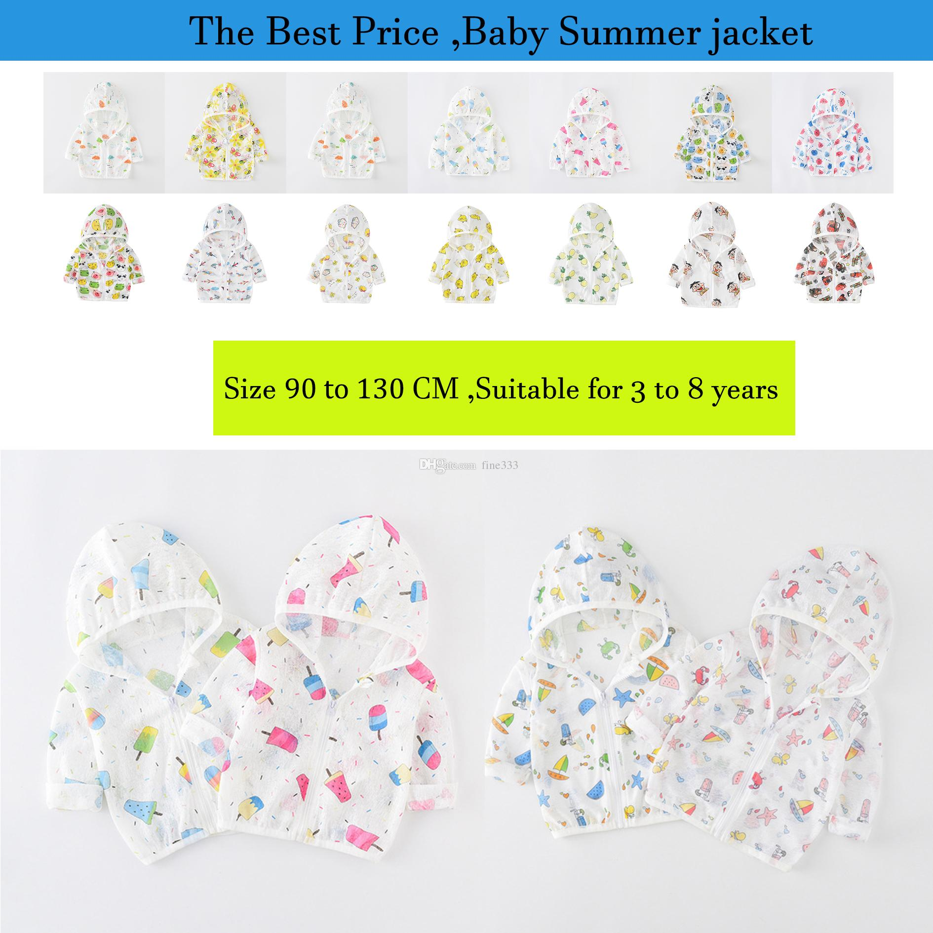 Kids Summer Clothes Baby Boy Girl Sun-Protective clothing Kid Summer Coat Cartoon Clothes Toddler Spring Jacket Child Coats