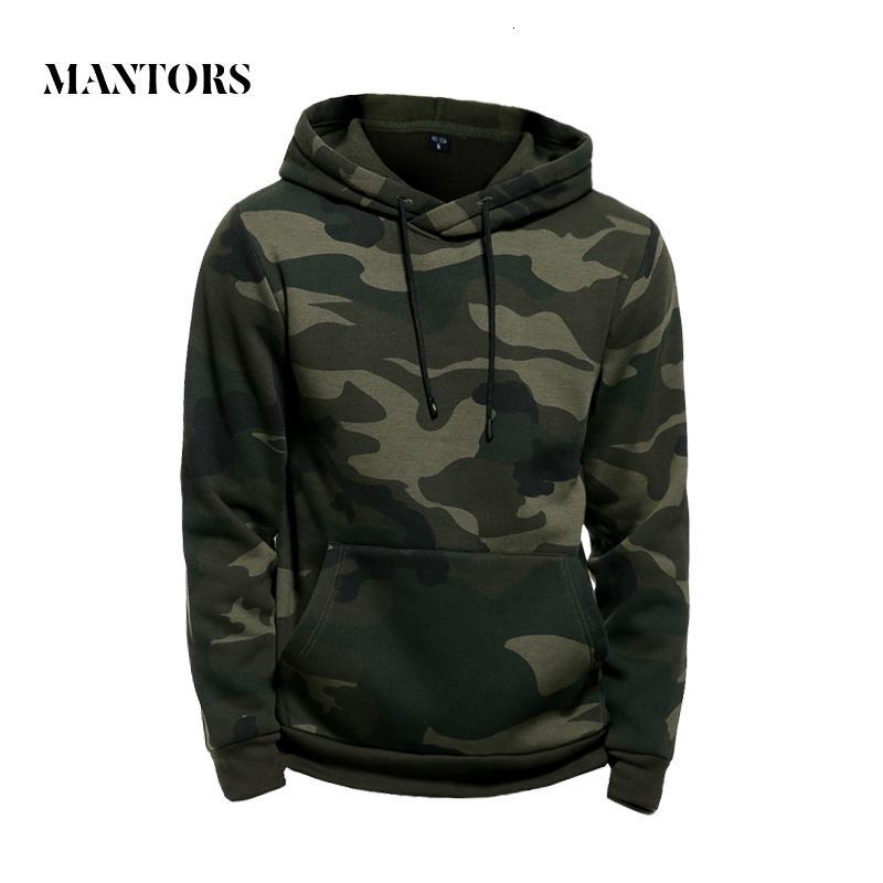 Camo Sweats à capuche homme militaire de poche à capuchon 2019 Armée Automne Hiver vert Sweat-shirt à capuche pour hommes Camouflage Homme Toison Hip Hop V191028