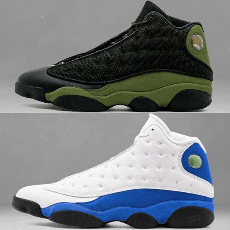 chaussures de haute qualité 13 13s Hyper royale GS Italie bleu hommes d'olive basket-ball 13s sports hommes Sneaker Athletics Chaussures taille 41-47