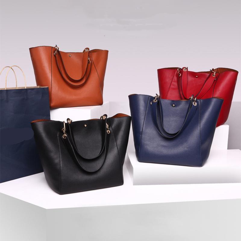 Женщины Кожа Винтажная Краткие мешки плеча высокого качества сумки Мода сумки Женщины Большой Tote дамы Ручной