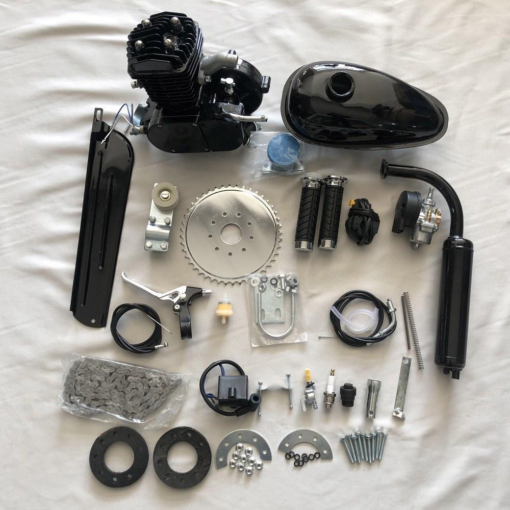 49cc 2 motocicleta bicicleta curso do motor de gasolina Kit Para DIY Bicicleta elétrica Mountain Bike Conjunto Completo bicicleta Gas Motor Motor