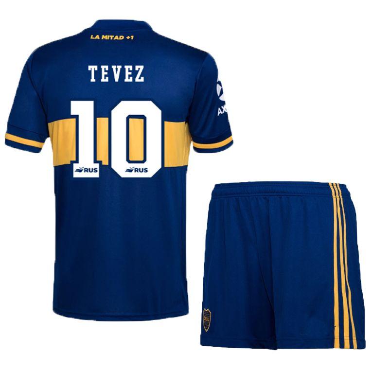 20//21 Boca Juniors Home Blue Soccer Jersey Mens S XXL Tevez De Rossi Pavon