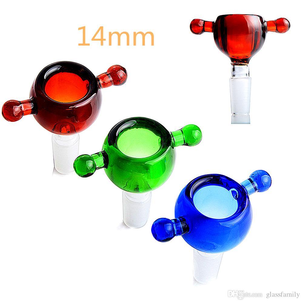 bols 14mm pour Dab gréements mini-bong rose bongs 14mm bangs eau en verre bol et tuyaux ash catcher 14mm Banger