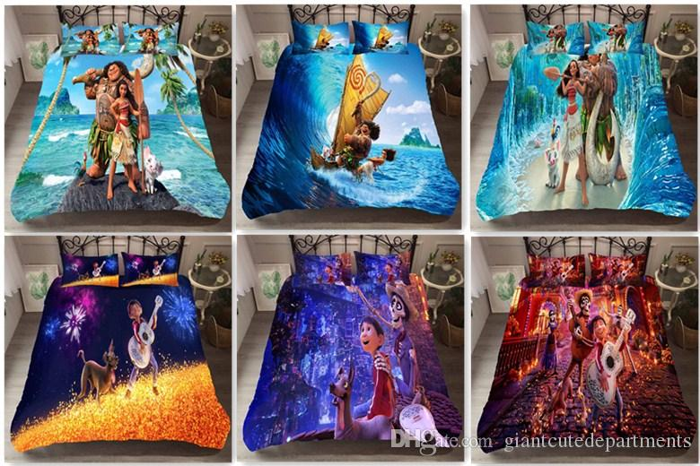 Children's Cartoon Marine Margin Dream Travel 3D Printed Down Duvet Cover Set Comforters Bedding sets,Twin,Full,Queen,King