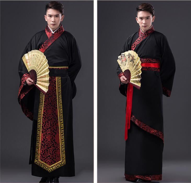 Mens Hanfu Traditional Chinese Clothing Ancient Costume Festival Outfit Stage Performance Clothing Folk Dance Costumes