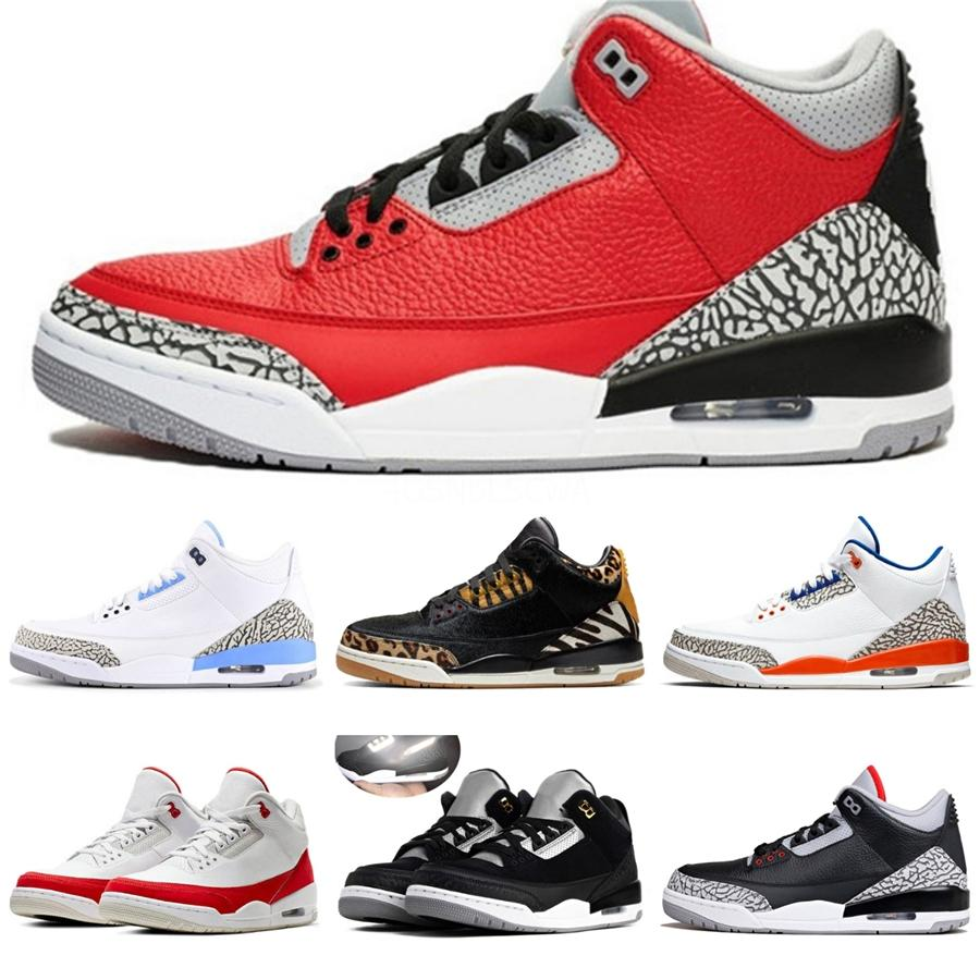 Herren 3 Iv Cactus Jack Basketball Schuhe zu verkaufen 3S Bred Lack Red Cement Grey Herren Sneakers Sportschuhe mit Kasten Größe 7-13 # 795