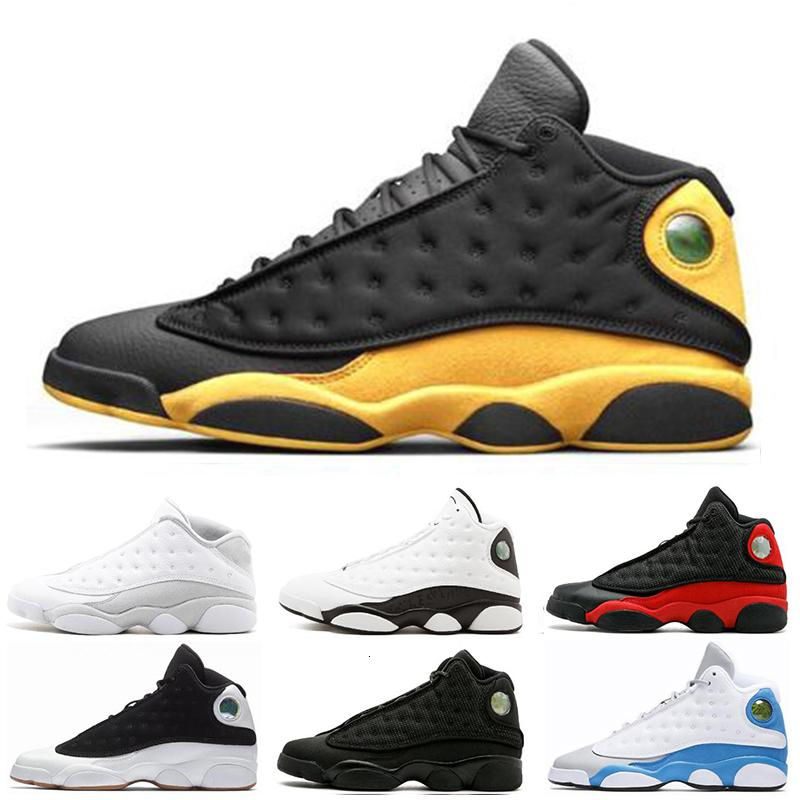 Meilleur rabais 13 13s Basketball Hommes Chaussures Italie Bleu classe de 2003 Black Money Cat race pure taille Sports Flint 7-13