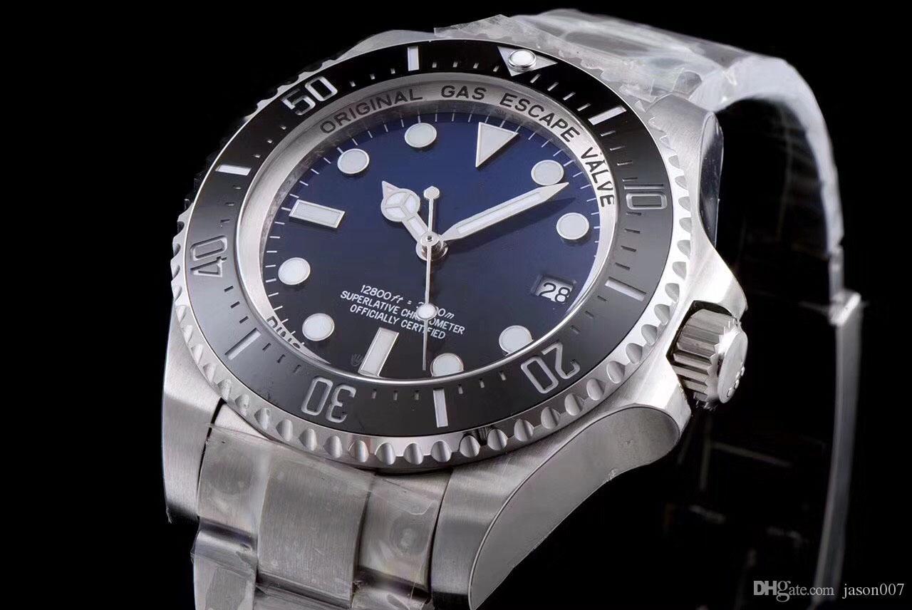 U1 Factory ST9 D-Blue Dial Hommes Regardez la lunette de la mer Bezel Céramique 44mm Sapphire 116660 Matériel mécanique automatique Mens Montres Montres Montres Montres Montres