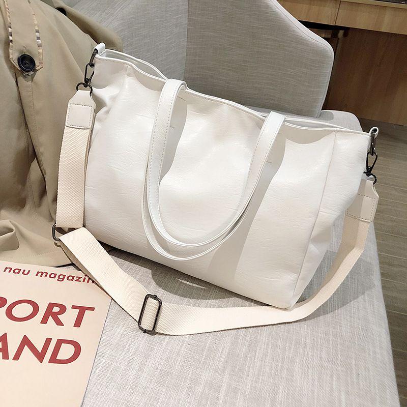 Pu couro suburbano grande capacidade de 2020 nova moda de um ombro grande saco das mulheres saco simples Todd bolsa de mão