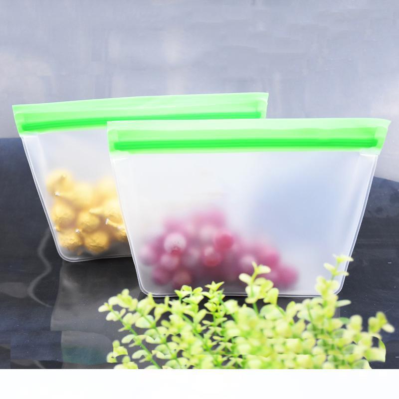 Reutilizable almacenamiento de alimentos Bolsas Stand-up el congelador a prueba de fugas lavables Bolsa de almuerzo merienda de frutas verduras Inicio Orangizer MMA3218