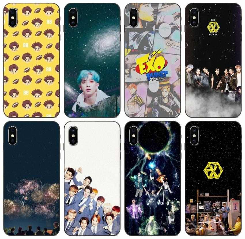 Tongtrade Korean Mens Team Exo Case For Iphone 11 Pro Max X Xr Xs 8 7 6s 5s Plus Galaxy Grand I9082 Prime Honor Play 3 Lg Q Stylus Case Cell Phone