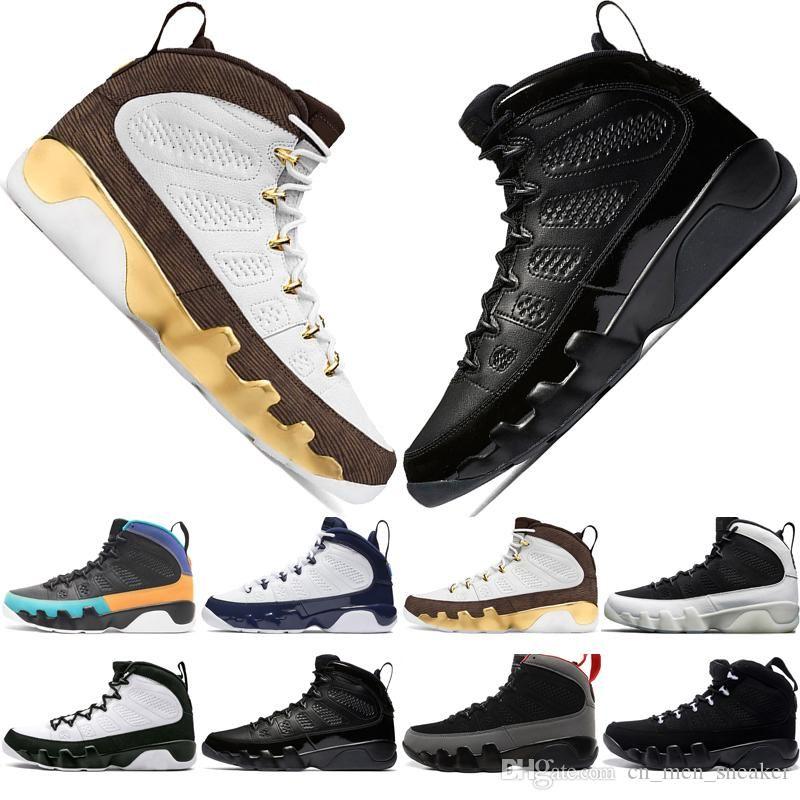 New 9 9s Dream It Do It UNC Mop Melo Mens Basketball Shoes LA OG Space Jam men Bred All Black The Spirit sports sneakers designer US 7-13