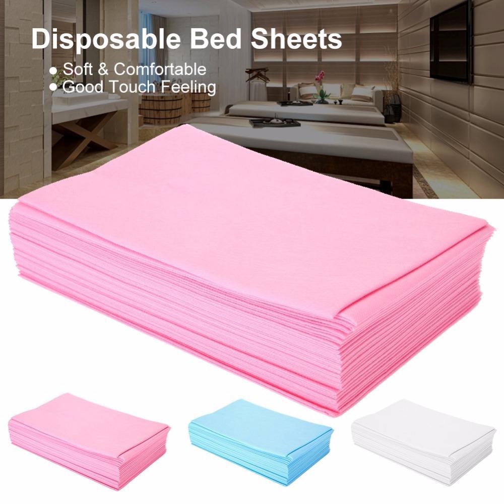 50pcs 180 x 80cm desechable SPA Masaje Bedsheet sábanas impermeables cama de masaje del salón de belleza Bed Tabla cubierta Hoja