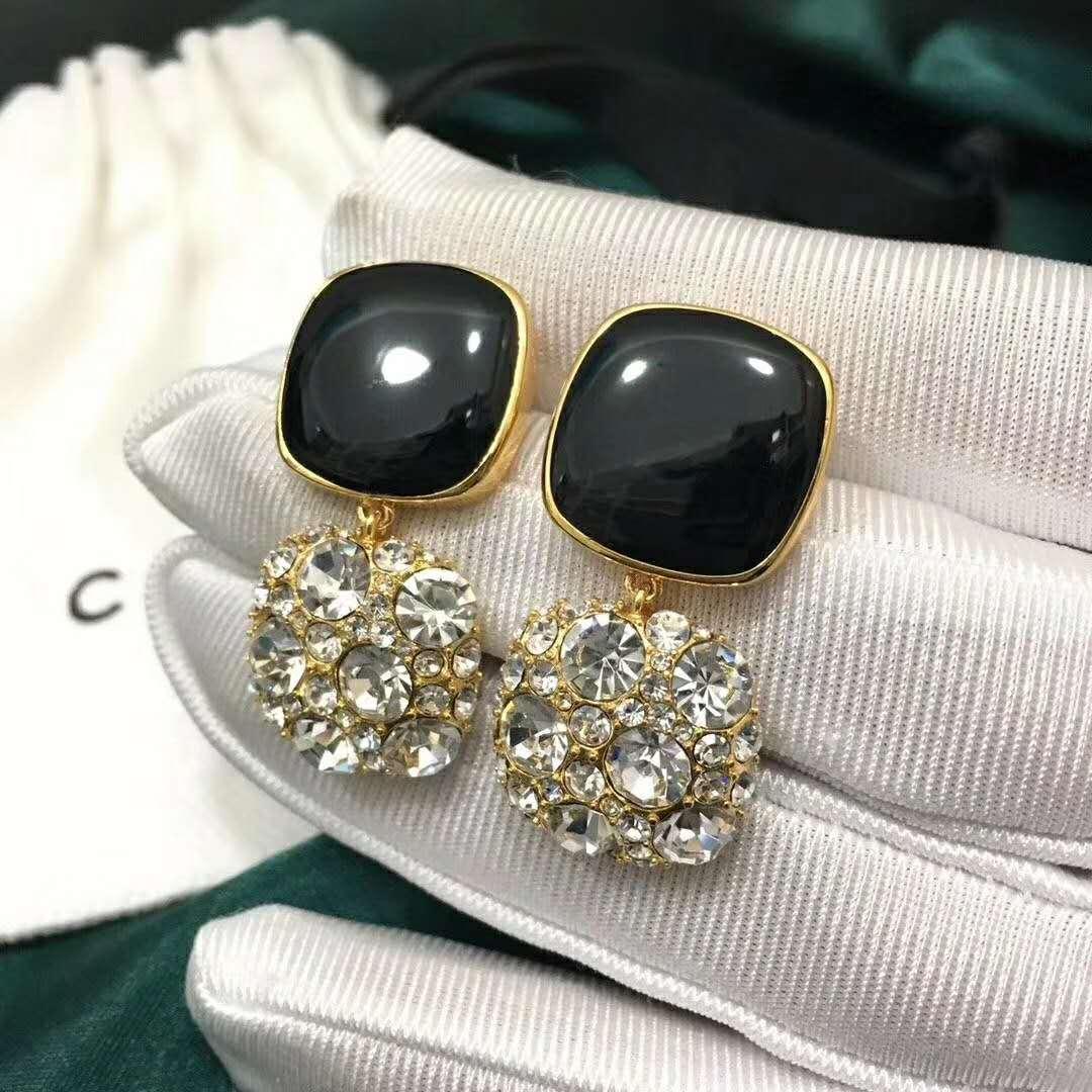 Sıcak satış patlayıcı kişilik elmas vahşi tasarımcı küpe lüks tasarımcı takı kadınlar küpe