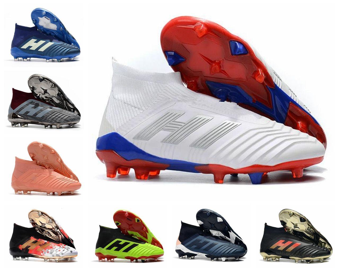 Großhandel ADIDAS Predator 18+ Predator 18.1 FG PP Paul Pogba Fußball 18 + X Stollen Slip On Fußballschuhe Herren High Top Fußballschuhe Günstig Von