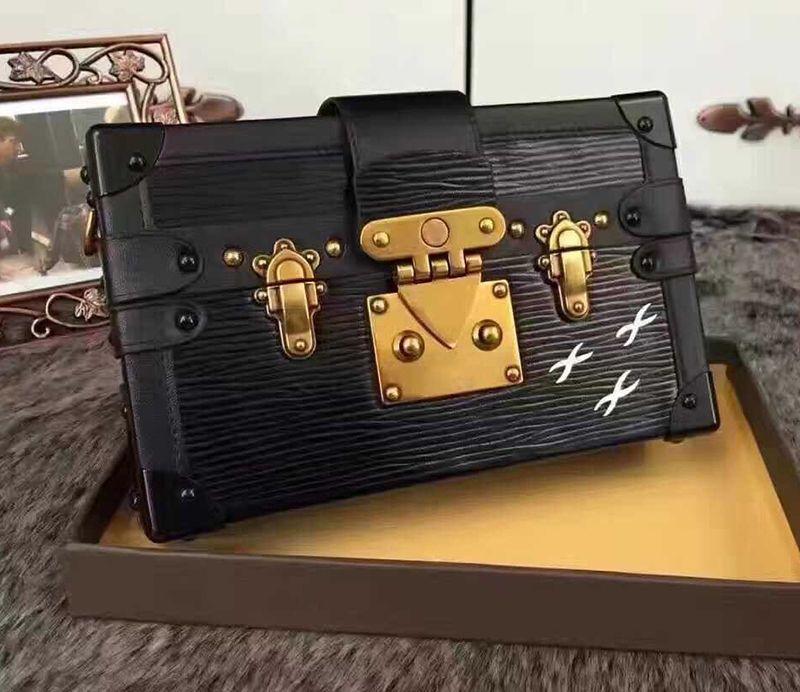 2019 Wholesale Designer clutch Box Original Handbags Evening Bags Excellent Quality Leather purse Fashion Box Brick Messenger Shoulder Bag