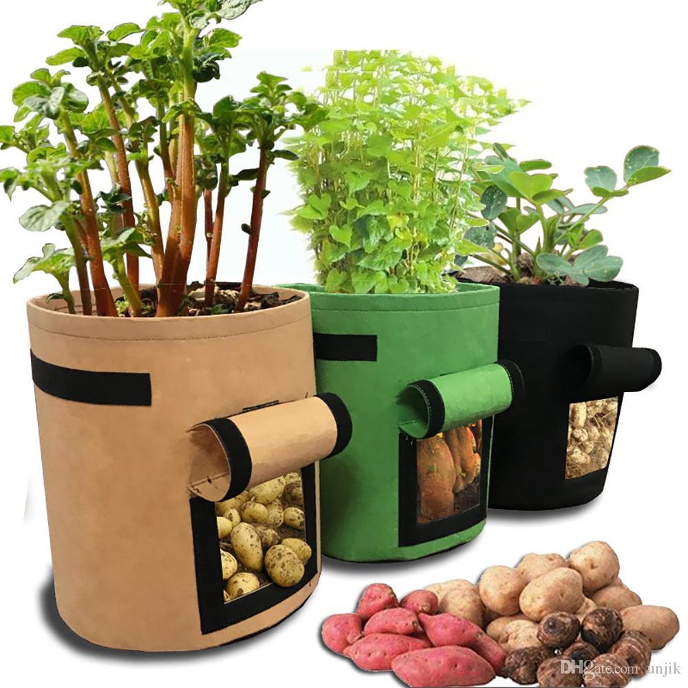 Planter Des Tomates En Pot acheter maison jardin respirant pomme de terre tomate plantation sac légume  plante croissance sac jardin pots planteurs fournitures grandir sac pot 30