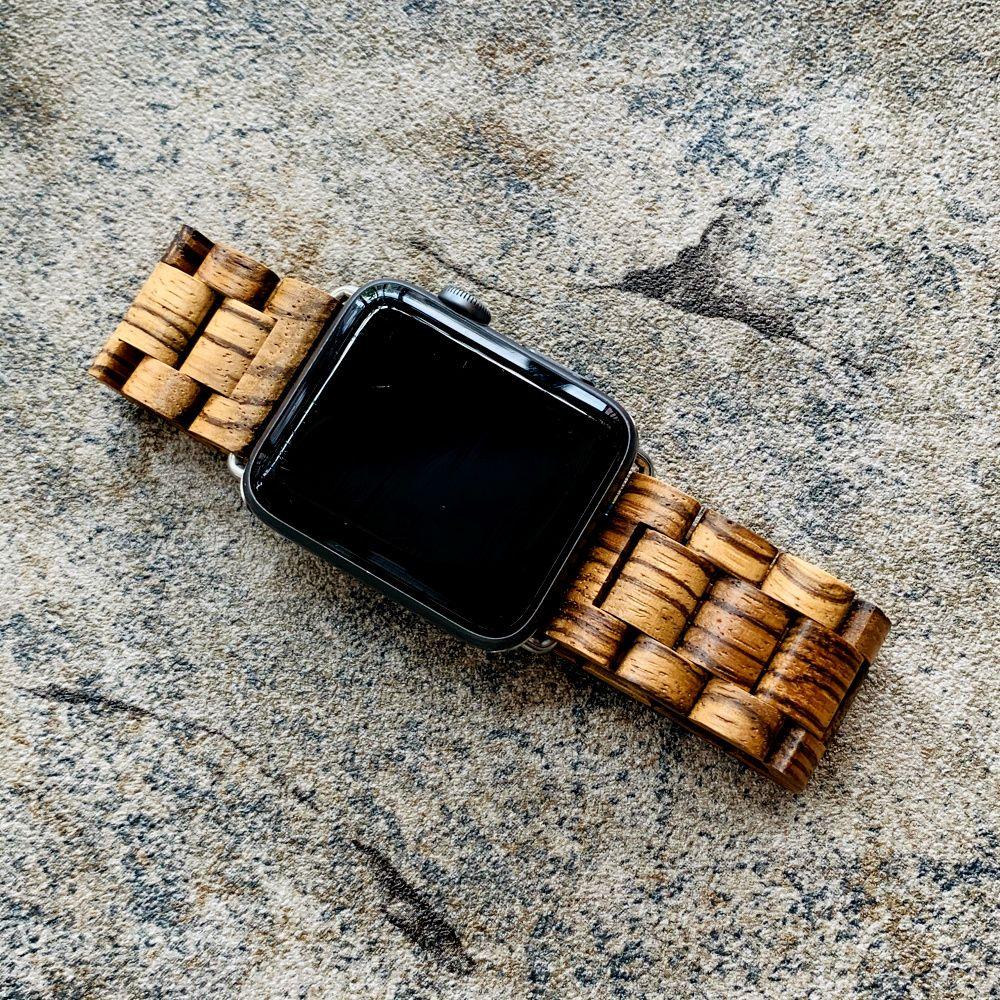 Retro pulsera de bambú natural arbolado de cinta para la iWatch Serie 1 2 3 4 5 para Apple venda de reloj de madera de 38 mm 40 mm 42 mm 44 mm correa