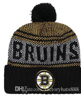BOSTON Unisex Autumn Winter hat men women Sports Hats Custom Knitted Cap Sideline Cold Weather Knit hat Soft Warm Bruins Beanie Skull Cap 02