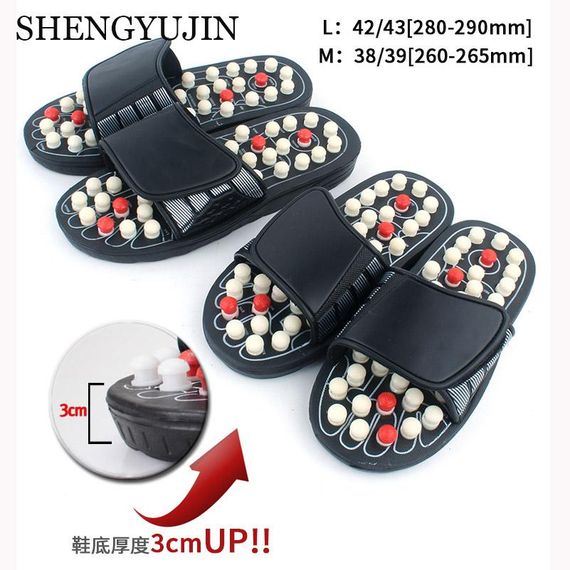 SHENGYUJIN Chinese Acupressure Therapy Rotating Foot Massager Shoes Unisex Acupoint Massage Slippers Sandal For Men Feet