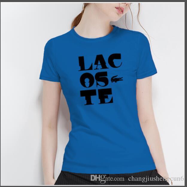 2019 brand fashion luxury designer ladies T-shirt letter printing fashion round neck T-shirt ladies short-sleeved T-shirt