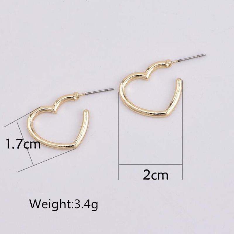 Acessórios ALYXUY New Fashion Jóias Declaração doce bonito Gota Brincos Coração Para Mulheres ouro Brincos cor prata menina s