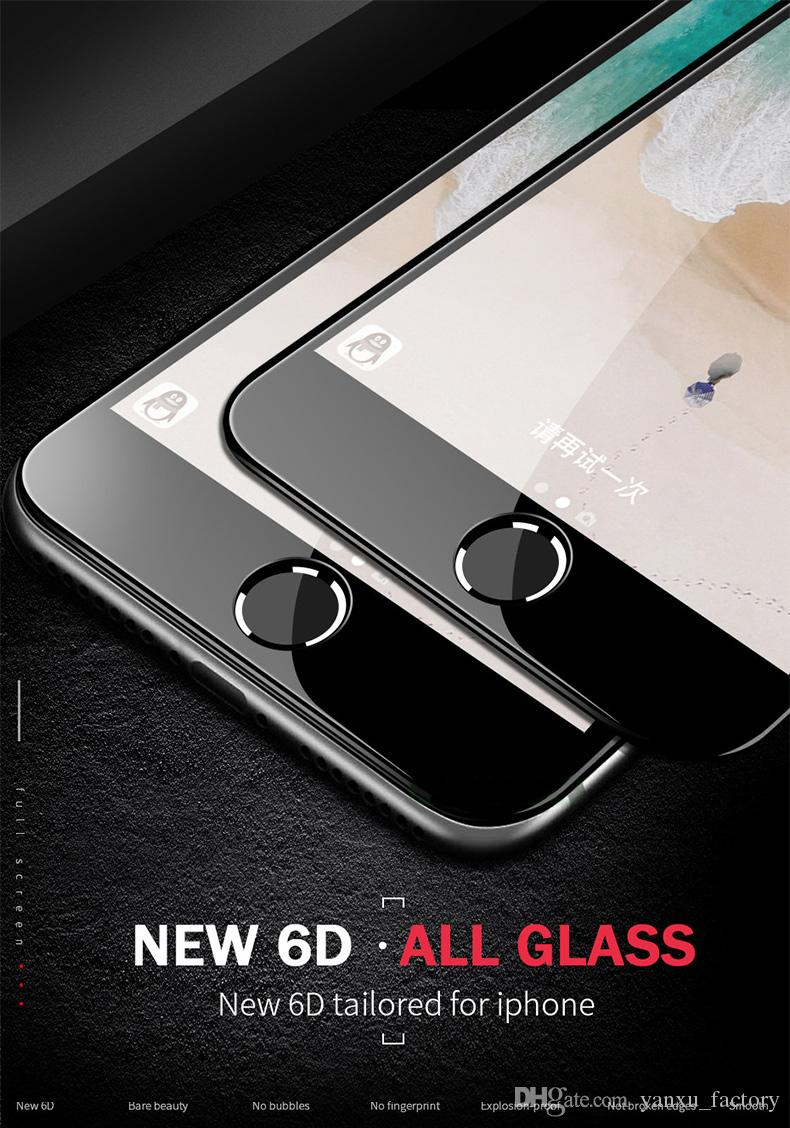 For iphone12 6D Curved Tempered Glass Full Cover Screen Protector 9H Film For iPhone 12 Mini 11 Pro Max SE 2020 XS XR X 8 7 6 6S Plus