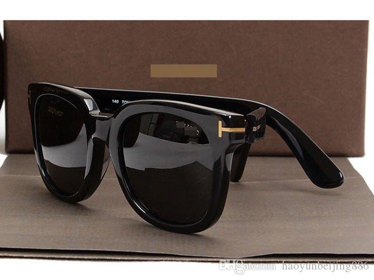 2019 Nueva calidad de dicha cantidad superior de lujo nuevo de la manera 211 Tom gafas de sol para mujer del hombre Erika Gafas Ford diseñador Gafas de sol con la caja original FT # 69