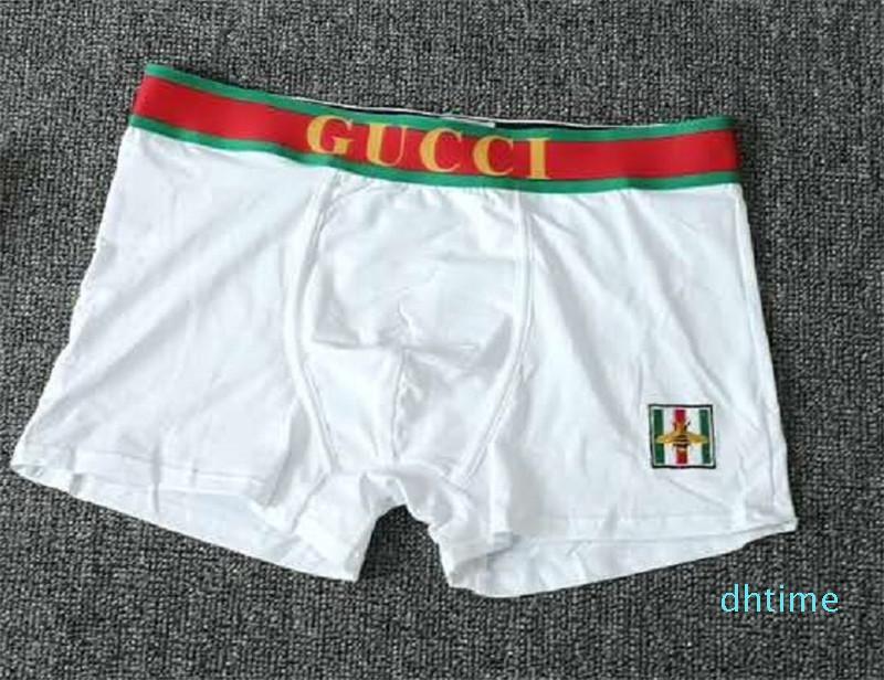 Mens Luxo S Bee Bordado Underwear G S Designer S Masculino Boxers Underwear Homem Cueca de algodão puro com Box jh