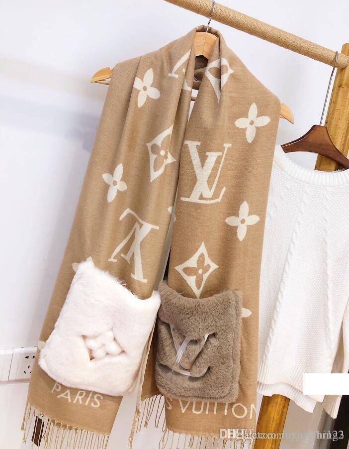NEUE Art und Weise Luxus Schal echarpe homme Brief Design-Stil Herbst und Winter dicker Schal Schal Männer und Frauen Kaschmir scarf200X45CM