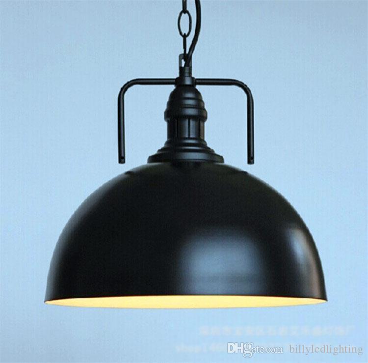 Birdcage de la vendimia Negro Luces pendientes hierro minimalista retro Loft luz de la lámpara jaula de metal industrial pendiente de la iluminación de las luces E27