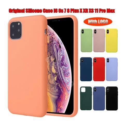 새로운 아이폰 11 프로 6 7 8 플러스 액체 실리콘 케이스 커버 아이폰 X XR XS 최대 소매 패키지 로고 원래 실리콘 케이스를 가지고