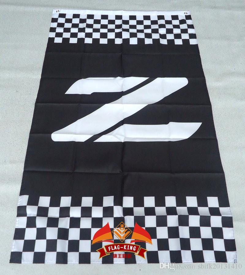 Z Racing Flag 3ft X 5ft Polyester Z Banner Fliegen 150 * 90cm Kundenspezifische Flaggen-Sport-Sturzhelm