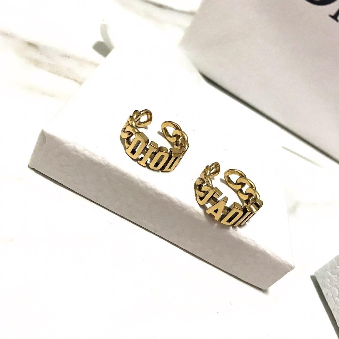 Moda super caliente carta clásica hueco de la cadena joyería de las mujeres anillo de diseñador diseñador de apertura de lujo anillos