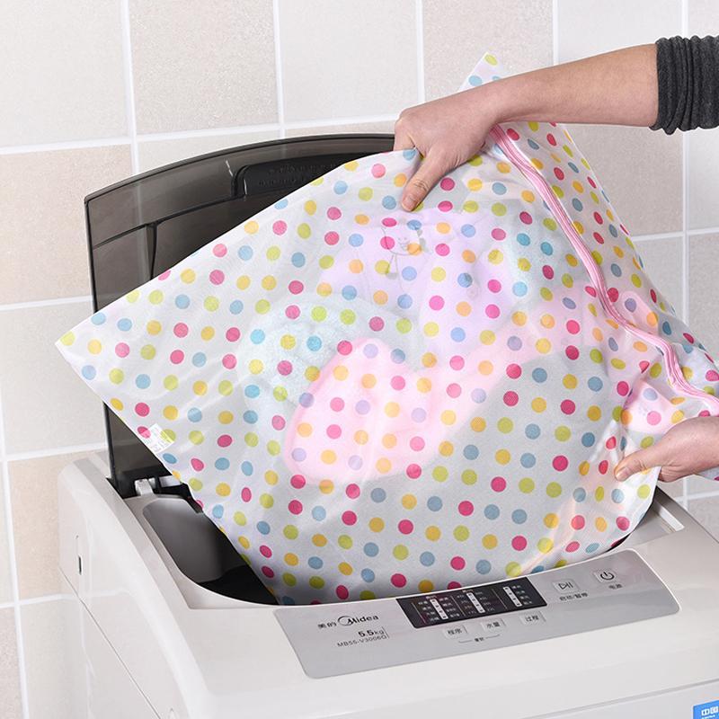 50 * 60CM Lingerie Sacs à linge Imprimer Lave-linge Détergents Sac Wash Machine de lavage Bra Mesh Net Wash Bag Pouch Panier DBC DH0962-2