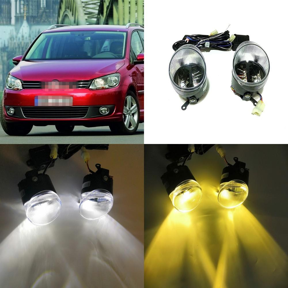 July King 24W Bifocal Fog Lamp Case for Volkswagen Touran 2011.05-2014, 6000K Day Running Lights DRL+ 6000K High Beam + 4300K Low Beam