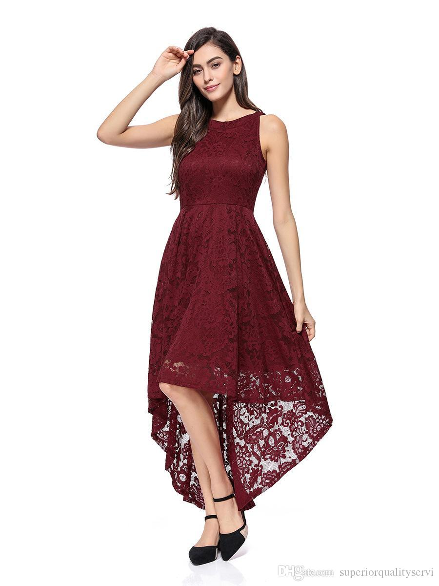 e121f1c9df3b2f Summer Elegant Women Lace Dress Fashion Tail Party Evening Dresses  Sleeveless Boutique China Clothes Manufacturer