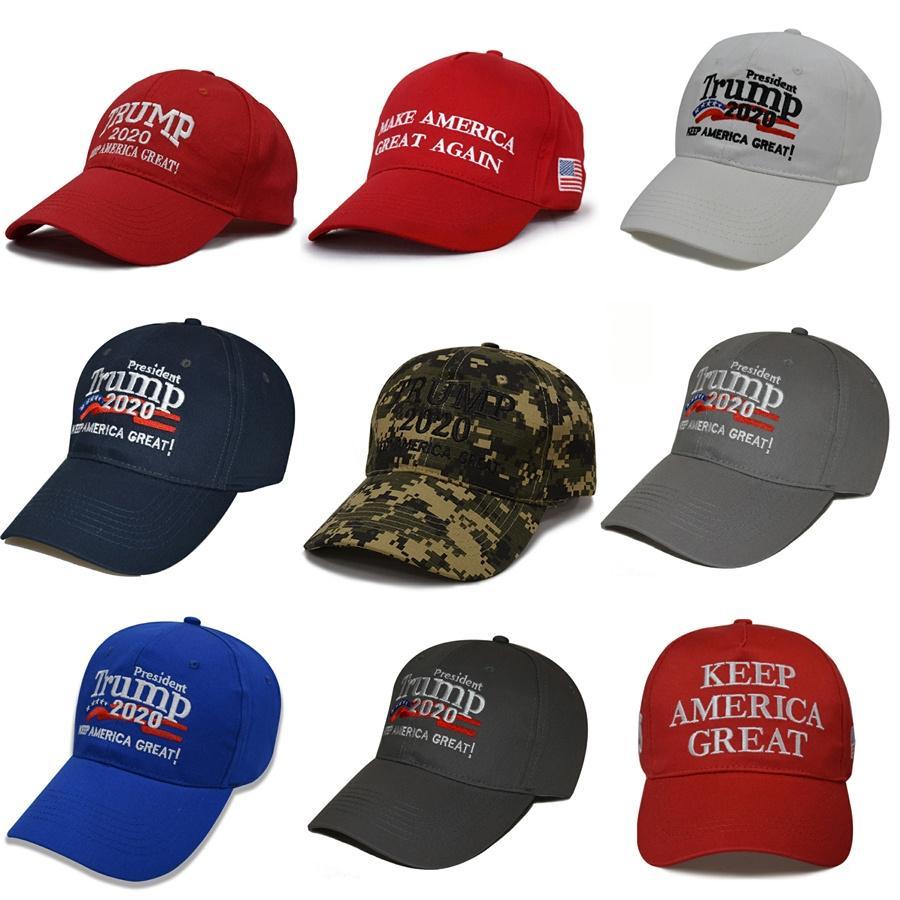 9 Styles Hot Make America Great Again Hüte Donald Trump Republican Snapback Sport-Hüte Baseballmützen USA-Flaggen Erwachsene Frauen der Männer Sport H # 33