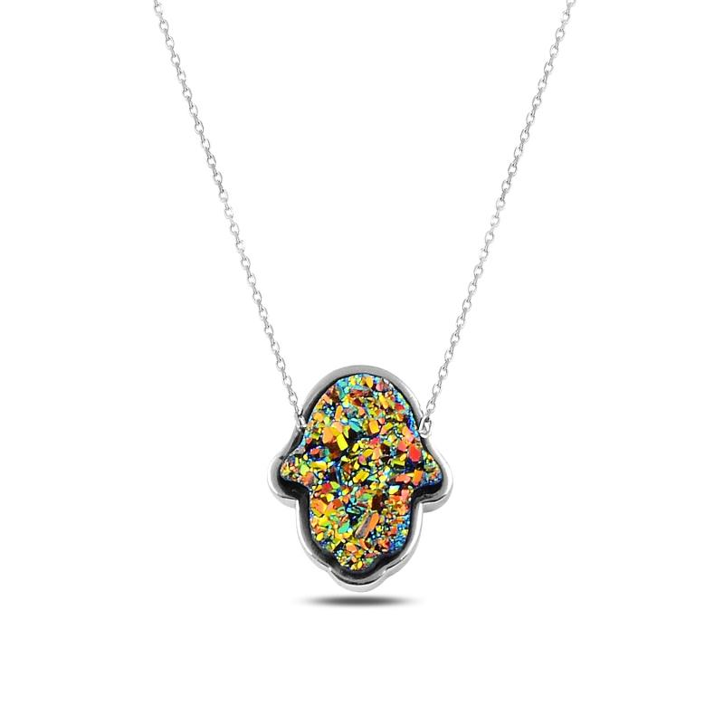 Silber 925 Sterling Fatma Meister Hand Halskette
